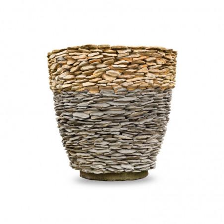 Donica ogrodowa zewnętrzna z kamienia naturalnego Cepr Mała
