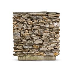 Donica ogrodowa zewnętrzna z kamienia naturalnego Krótka